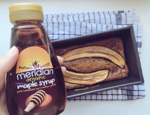 Coffee Chia Banana Bread with maple syrup