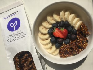 The Living Food Kitchen banana & blueberry granola