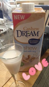 Taste the Dream event, cashew rice milk