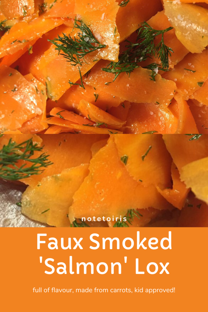 Carrot Smoked Salmon Style Lox recipe by notetoiris
