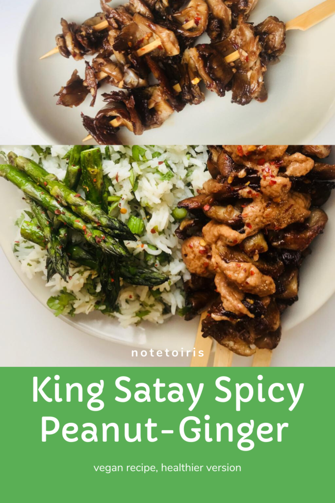 King Satay peanut ginger sauce: Wicker Healthy