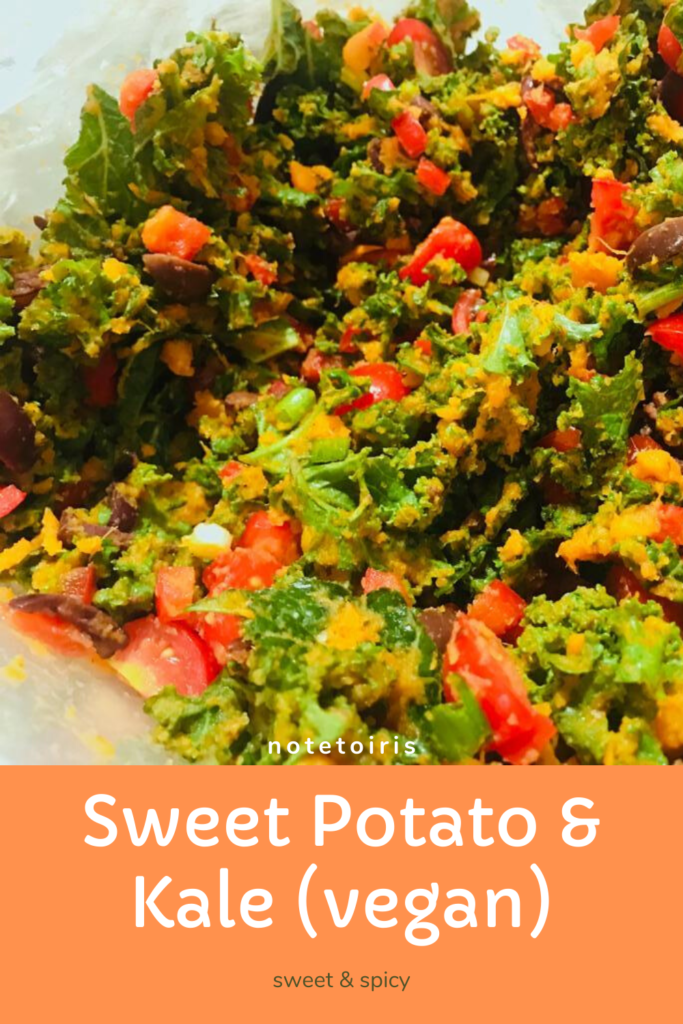 Sweet potato and kale salad recipe by notetoiris