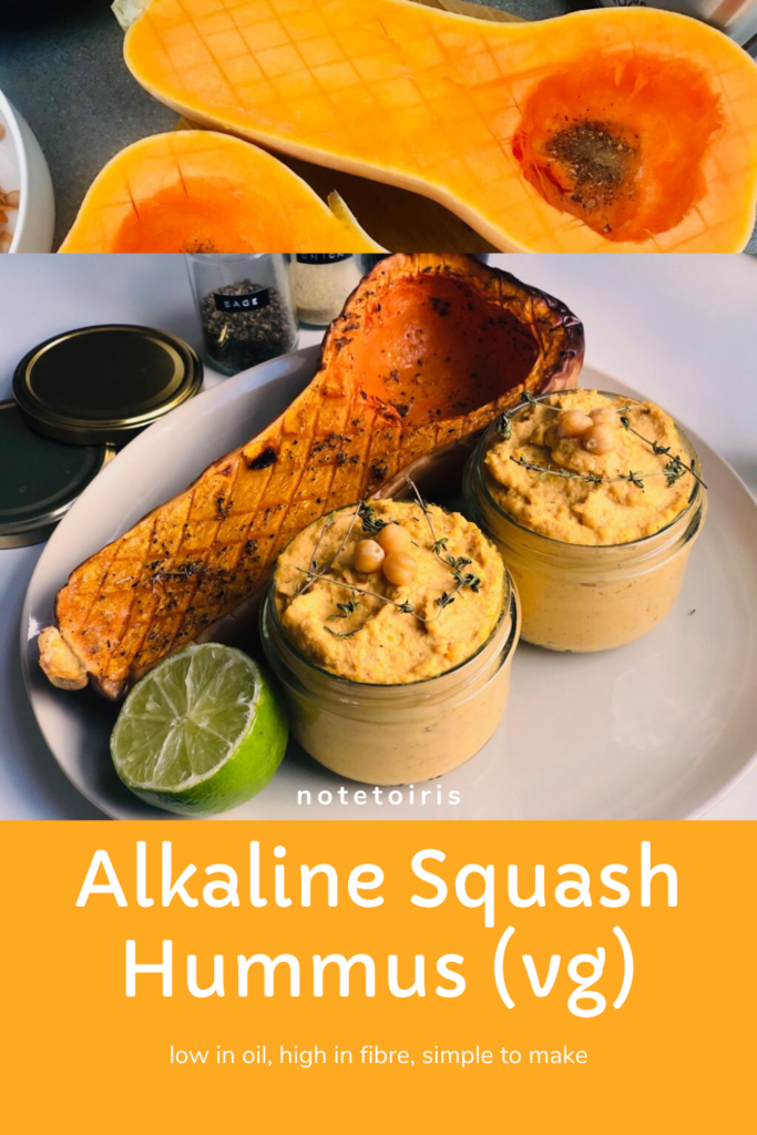 Alkaline Squash hummus recipe by notetoiris