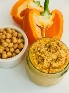Roasted Bell Pepper Hummus recipe by notetoiris